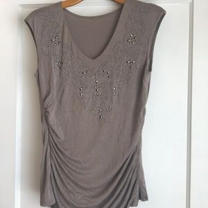 Tops - Sparkle tank with ruched side
